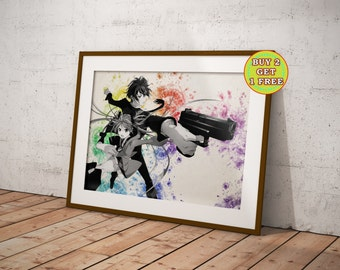 Black Bullet Anime, Satomi, Enju, Kisara,  Anime Poster, Anime Watercolor, Manga Art OC-63
