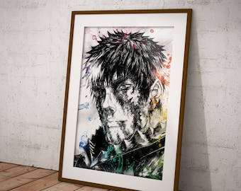 Portrait of Guts, Manga Poster, Naruto Print Anime Poster, Anime Watercolor, Manga Art OC-43
