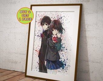 Another Anime, Misaki Mei and Kouichi,Another, Anime Poster, Anime Prints, Manga Art, Manga Poster OC-881