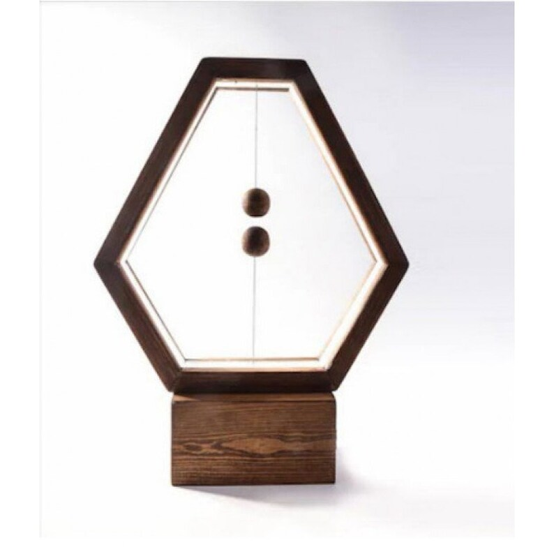 Pyramid balance lamp magnetic lamp table lamp balance lamp wood lamp decorative lamp