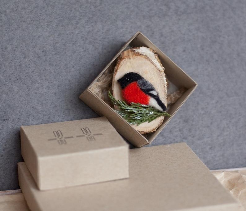 Bullfinch bird lapel pin Bird watching Whimsical jewelry Ornithology Christmas gift Stocking stuffer gifts for women winter gift for mom