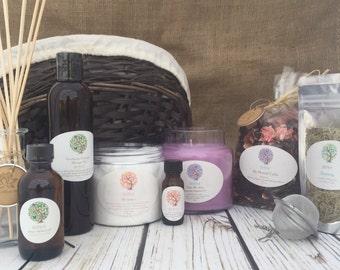 Calm My Spirit | Large Spa Basket | Lavender Gift Basket