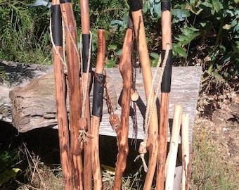 Wooden staff stick | Etsy