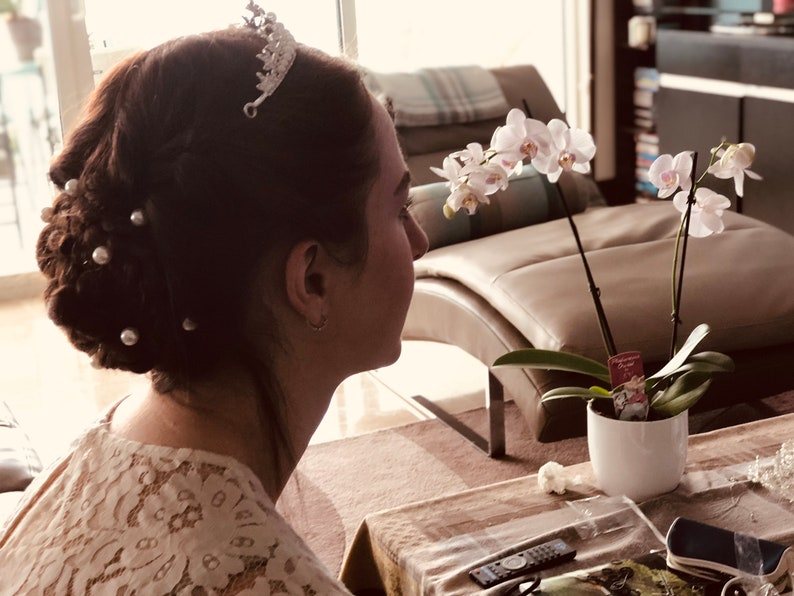Pearl Crystal Tiaras For Bride
