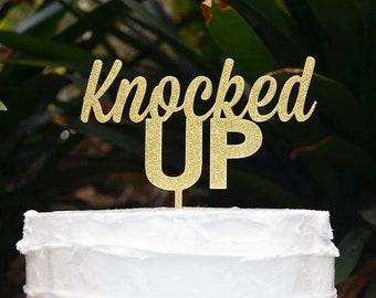 Knocked Up Cake Topper - Baby Shower Cake Topper - Baby Boy Baby Girl Cake Topper