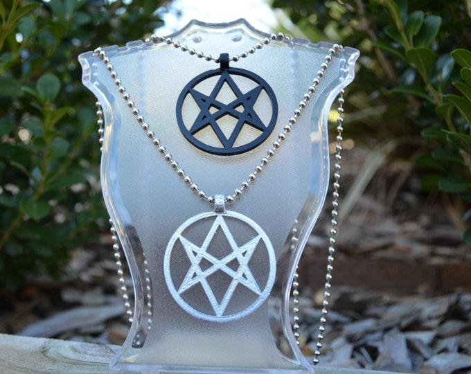 Unicursal hexagram Symbol Symbol - Necklace Pendant - Pentacle
