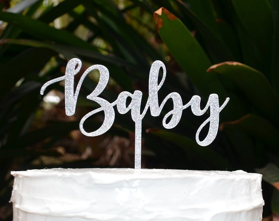 Baby Cake Topper - Baby Shower Cake Topper - Baby Boy Baby Girl Cake Topper