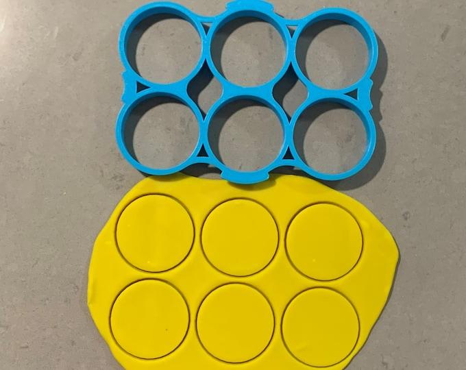 Circle Multi Cutter Individual Cookie Cutter Fondant Cutter