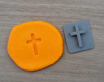 Cross Baptism Christening Confirmation Imprint Cookie/Fondant/Soap/Embosser Stamp