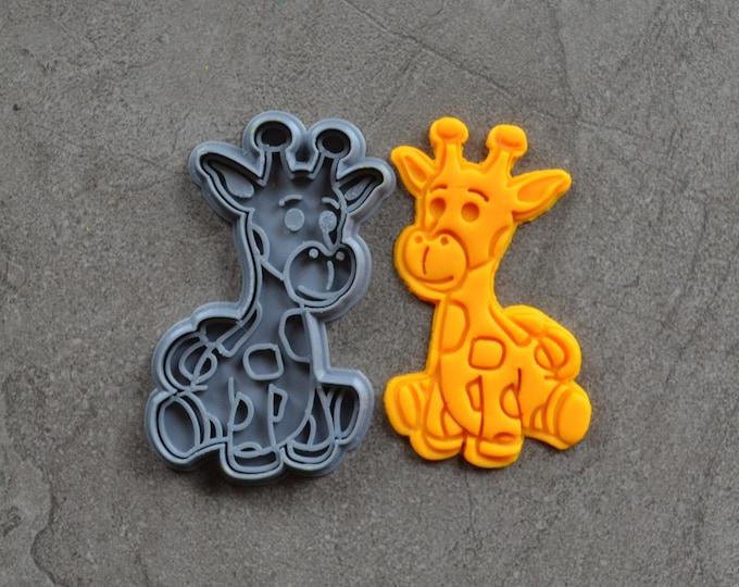 Giraffe Cookie Fondant Cutter & Stamp Fondant