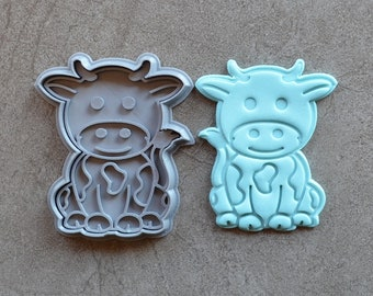 Cow Cookie Fondant Cutter & Stamp