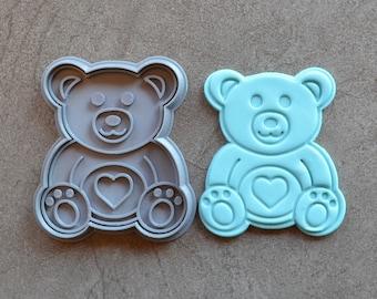 Teddy Bear Cookie Fondant Cutter & Stamp