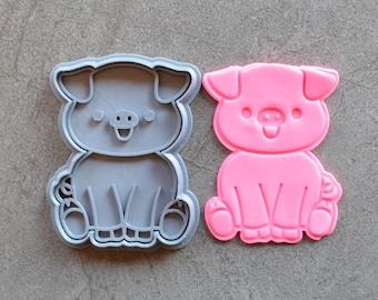 Pig Cookie Fondant Cutter & Stamp