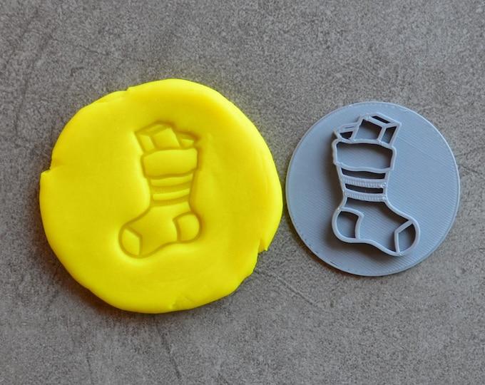 Christmas Stocking Imprint Cookie/Fondant/Embosser Stamp