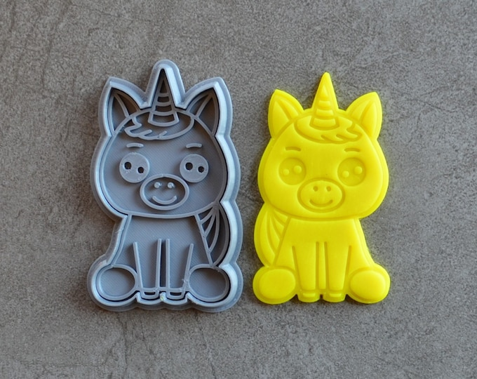 Unicorn V2 Cookie Fondant Cutter & Stamp Fondant
