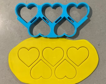 Heart Multi Cutter Individual Cookie Cutter Fondant Cutter