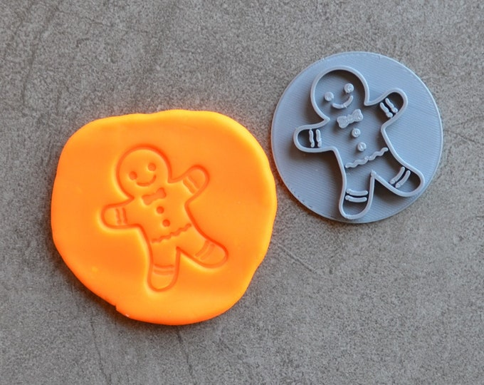 Gingerbread Man Christmas Imprint Cookie/Fondant/Embosser Stamp