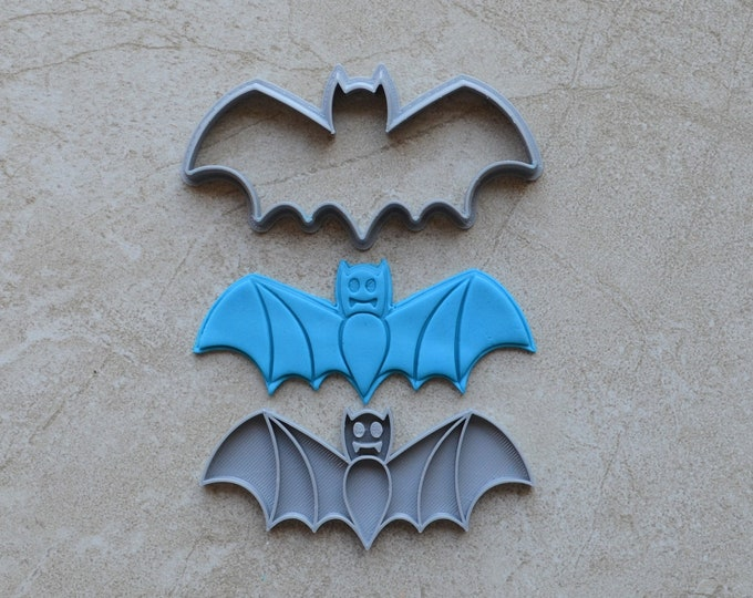 Bat Cookie Fondant Cutter & Stamp Fondant Halloween Cookie