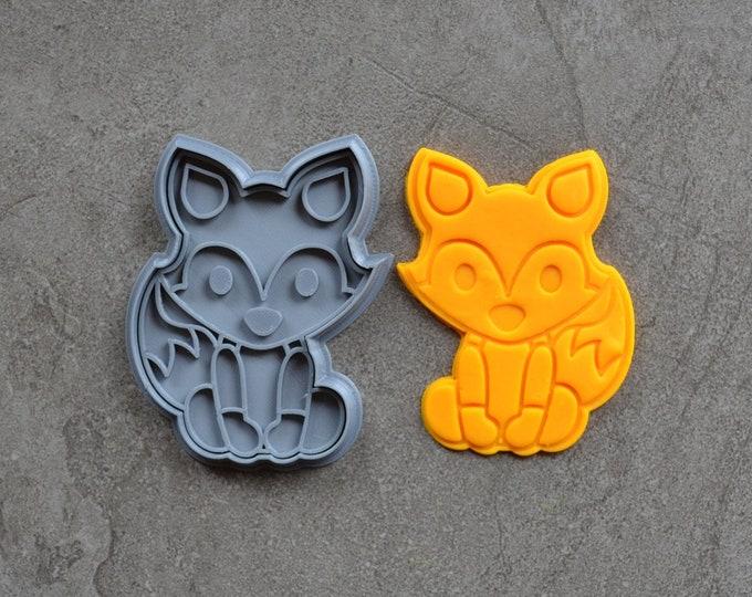 Fox Cookie Fondant Cutter & Stamp Fondant