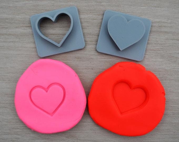 Heart Imprint Cookie/Fondant/Soap/Embosser Stamp