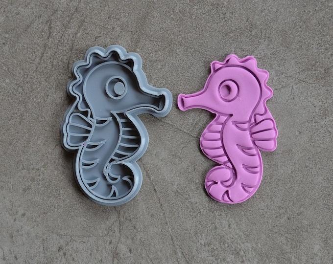 Seahorse Cookie Fondant Cutter & Stamp Fondant