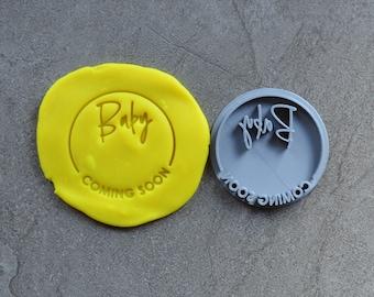 Baby Coming Soon DIY Stamp Imprint Wedding Engagement Cookie/Fondant/Soap/Embosser Stamp