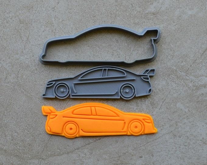 Motorcar Racing Car Sports Car Cookie Fondant Cutter & Stamp Fondant