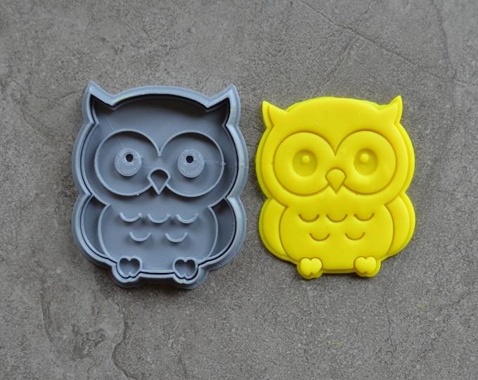 Owl Cookie Fondant Cutter & Stamp Fondant
