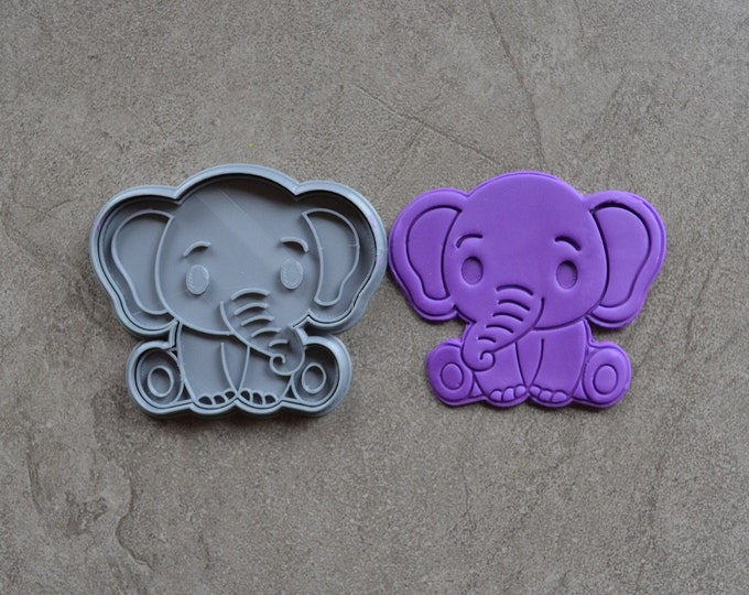 Elephant Cookie Fondant Cutter & Stamp Fondant