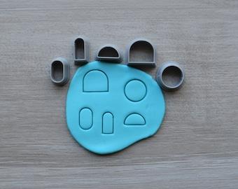 Mini Set 1 Polymer Clay Cutter Set Cookie Fondant Cutters