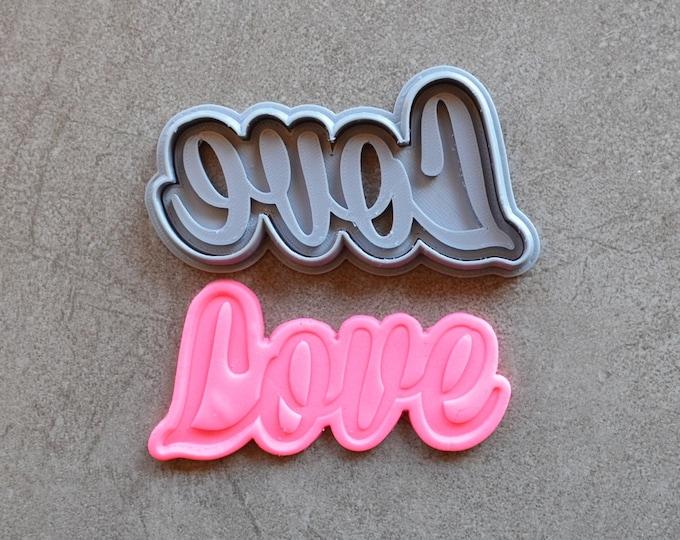 Love Cookie Fondant Cutter & Stamp