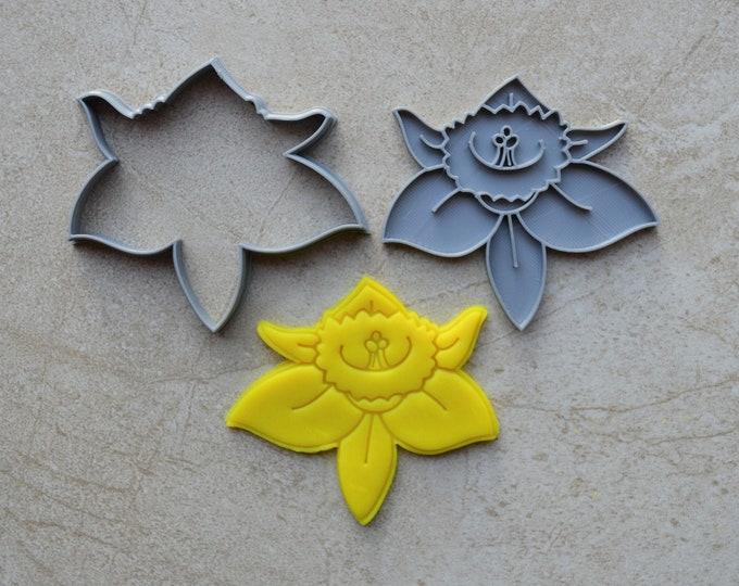 Daffodil Cookie Fondant Cutter & Stamp Fondant