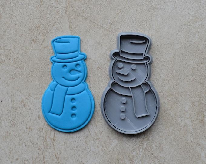 Snowman Christmas Cookie Fondant Cutter & Stamp Fondant