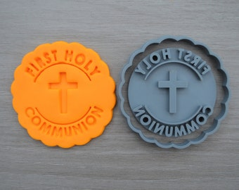 First Holy Cross Communion Cookie Cutter Fondant Cutter Stamp Party Favor Cake Topper