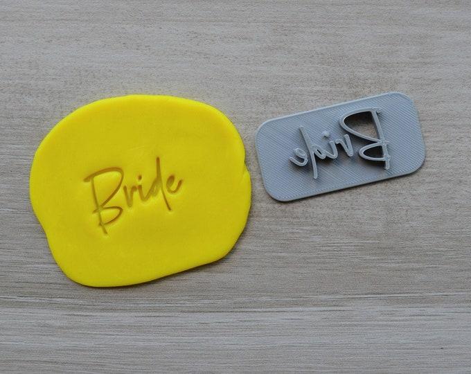 Bride V2 Imprint Cookie/Fondant/Soap/Embosser Stamp
