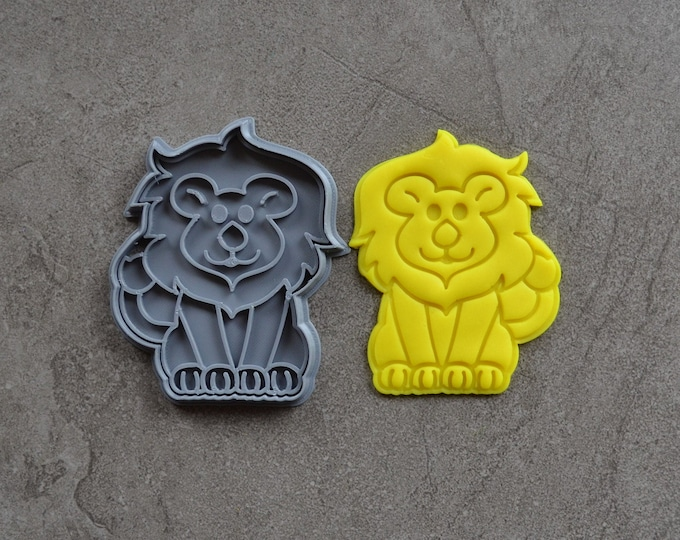 Lion Cookie Fondant Cutter & Stamp Fondant