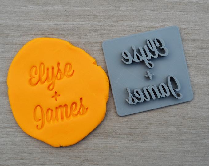 Custom Name + Name Font 1 Imprint Cookie/Fondant/Soap/Embosser Stamp