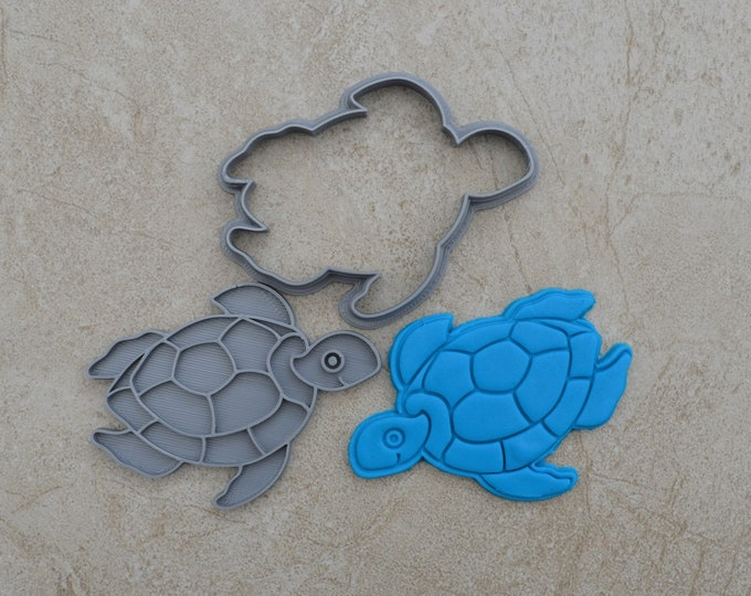 Turtle Cookie Fondant Cutter & Stamp Fondant