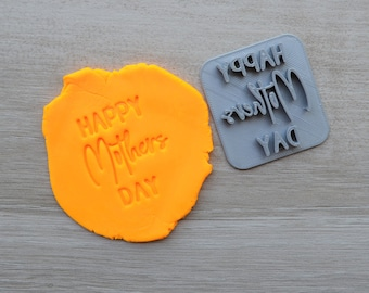 Happy Mothers Day Font 3 Imprint Cookie/Fondant/Soap/Embosser Stamp