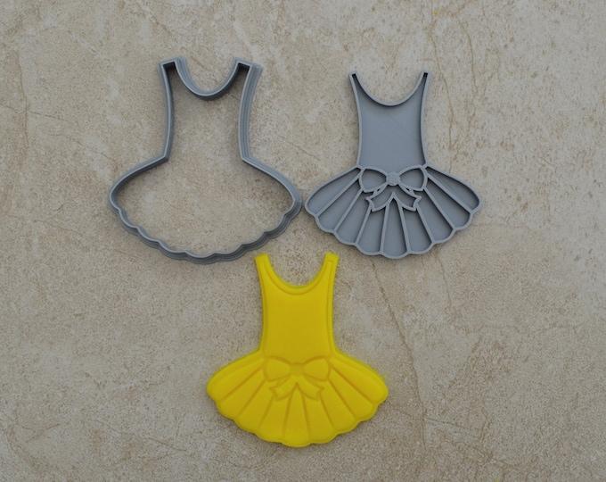 Ballerina Dress Cookie Fondant Cutter & Stamp Fondant
