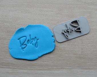 Baby V2 Imprint Cookie/Fondant/Soap/Embosser Stamp