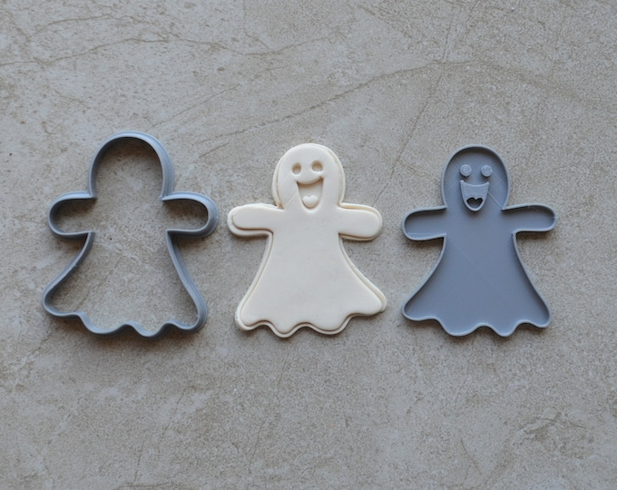 Ghost Cookie Halloween Fondant Cutter & Stamp Fondant