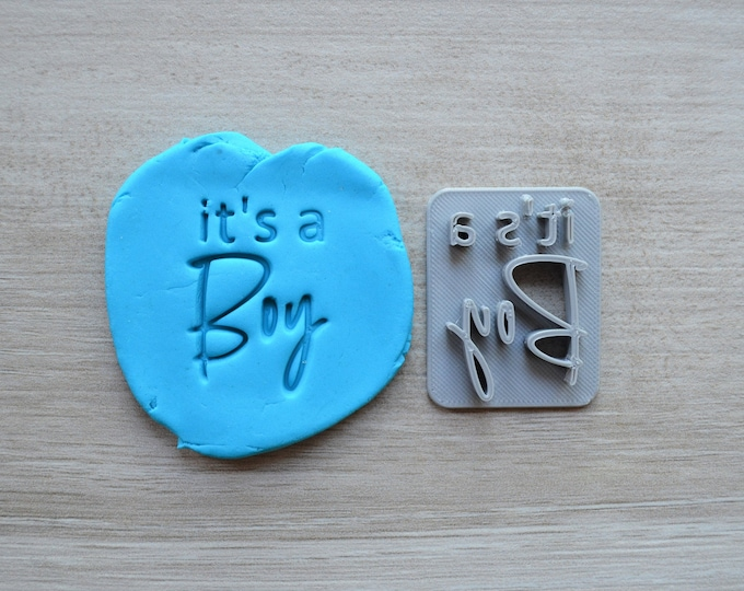Its A Boy Font 3 Imprint Cookie/Fondant/Soap/Embosser Stamp