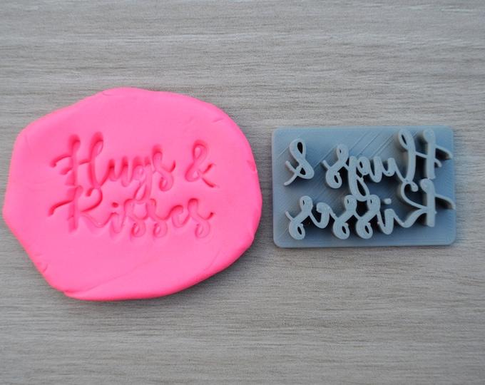 Hugs & Kisses Imprint Cookie/Fondant/Soap/Embosser Stamp
