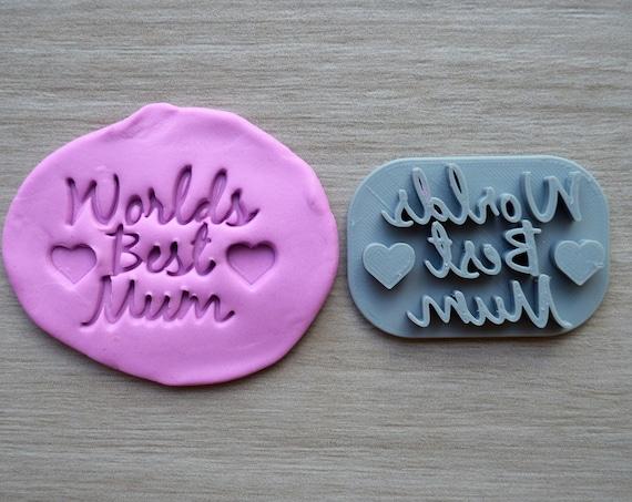 Worlds Best Mum Imprint Cookie/Fondant/Soap/Embosser Stamp
