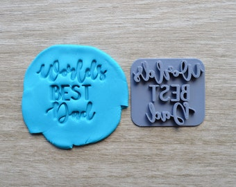 Worlds Best Dad Imprint Cookie/Fondant/Soap/Embosser Stamp