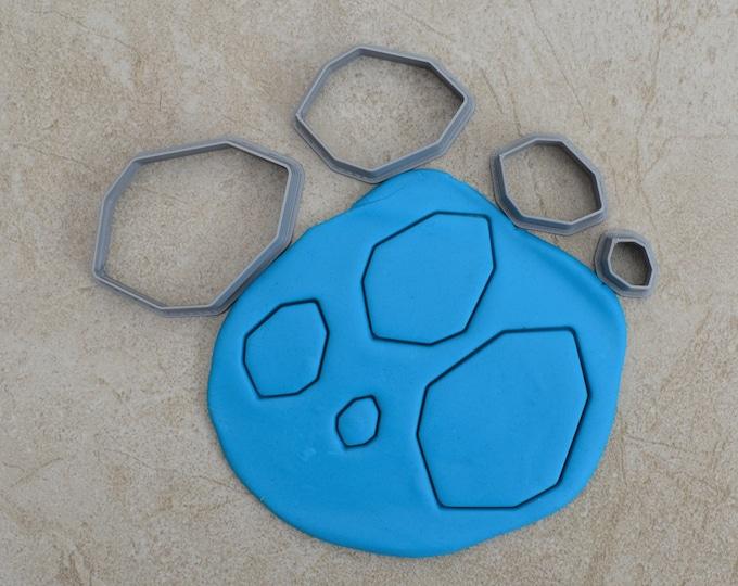Gem Shape Polymer Clay Cutter Set Cookie Fondant Cutters