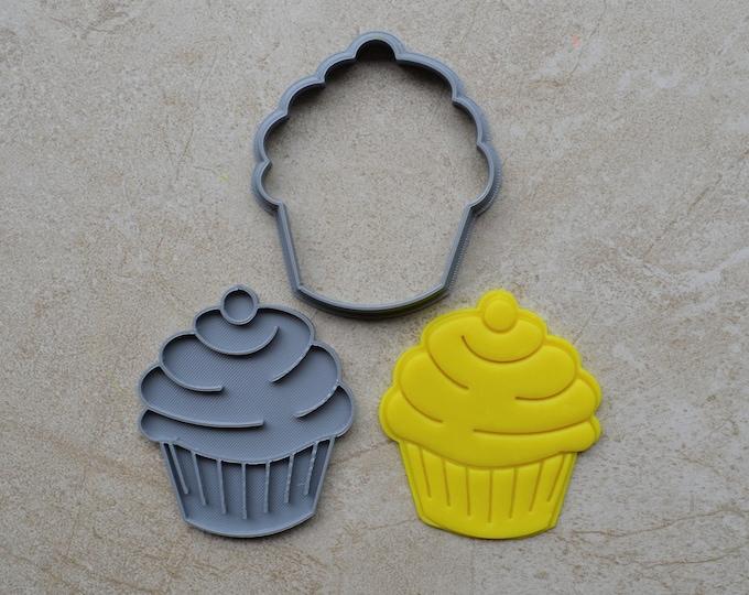 Cupcake Cookie Fondant Cutter & Stamp Fondant