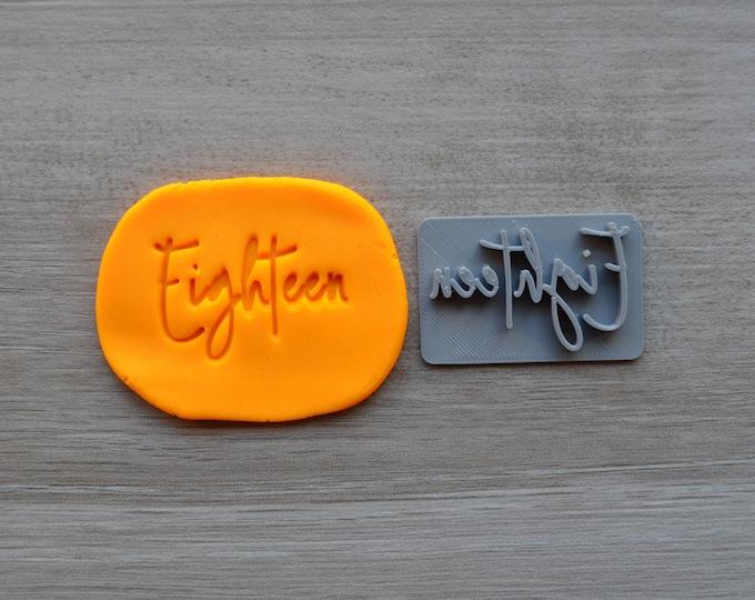 Eighteen Birthday 18th Birthday Imprint Cookie/Fondant/Soap/Embosser Stamp