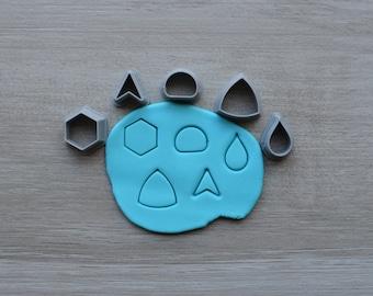 Mini Set 2 Polymer Clay Cutter Set Cookie Fondant Cutters